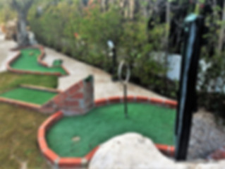 Some equipment of the mini golf course