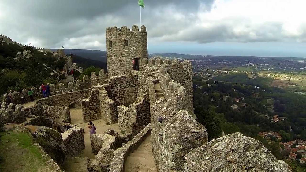 Ruins of the Moorish Castle in Sintra, Portugal