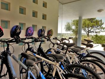 plenty of bikes inside the villa