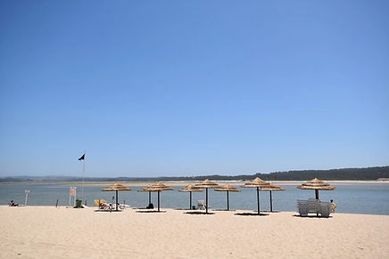 The lifeguard beach at Foz do Arelho