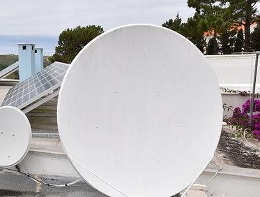 two satellite antennas at casa do lago holiday villa