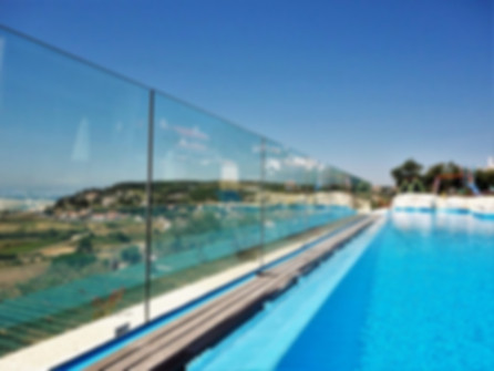 Kids safety: villa with fenced pool