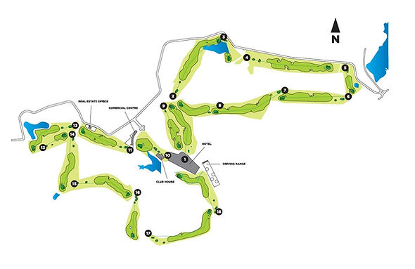 map of Bom Sucesso golf course