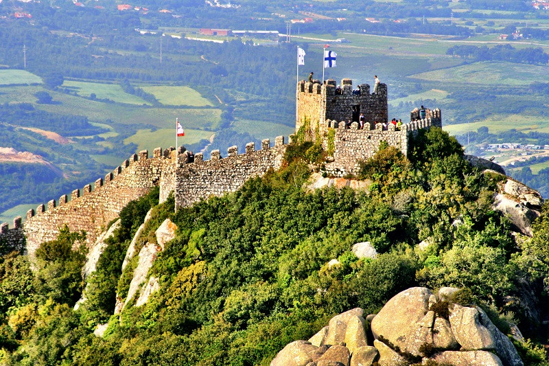 The Moors Castle, in Sintra, Portugal