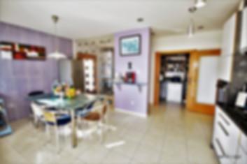 interior of the kitchen in casa do lago