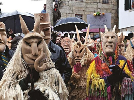 Remains of authentic Portuguese traditional Carnival