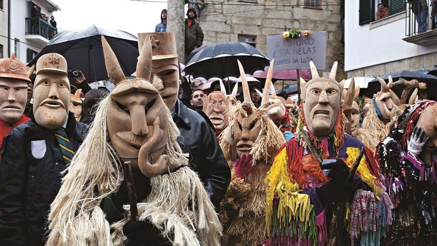 Traditional Carnival masks in Portugal