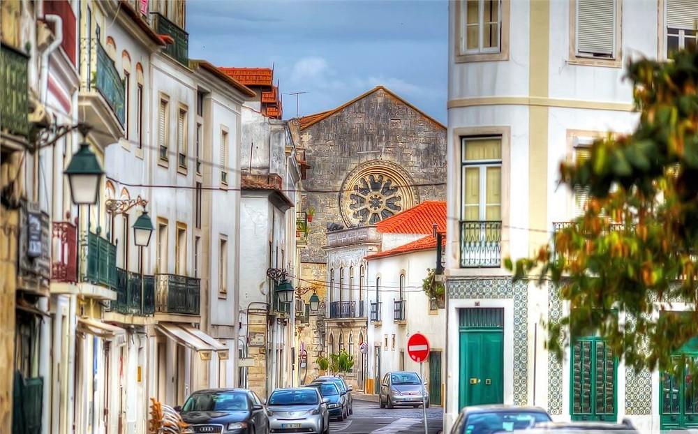 Street in Santarem, at 30 minutes from Lisbon
