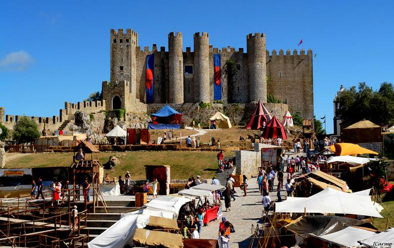 Recreation of medieval times in Obidos, Portugal