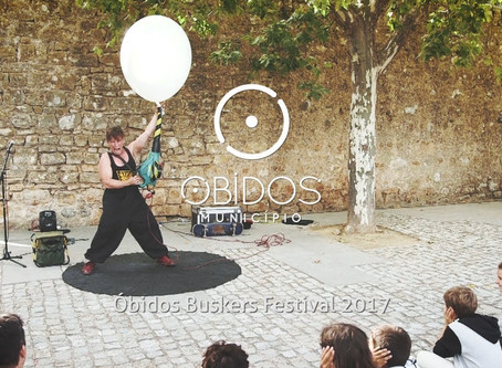 Obidos Buskers Festival, held in second week of September, Portugal.