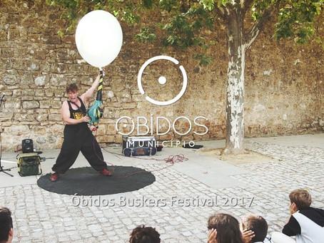 Obidos Buskers Festival, held in second week of September, Portugal.