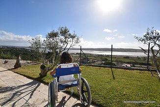 wheelchair holidays, garden's access