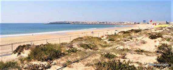 Supertubos beach at Peniche