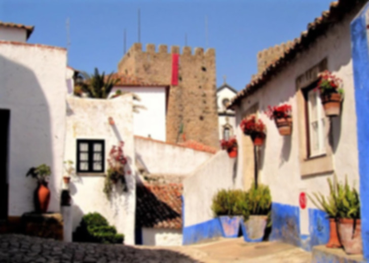 Houses in Obidos, Silver Coast, Portugal