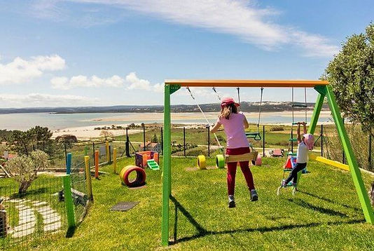 A kids paradise: the playground in Casa do Lago holiday villa in Portugal