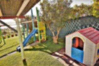 child friendly villa: playground