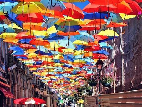 Umbrela Street Festival in Portugal.
