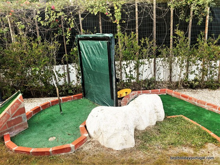 One equipment of the crazy golf