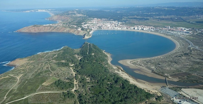 Aerial view of the Sao Martinho family friendly beach