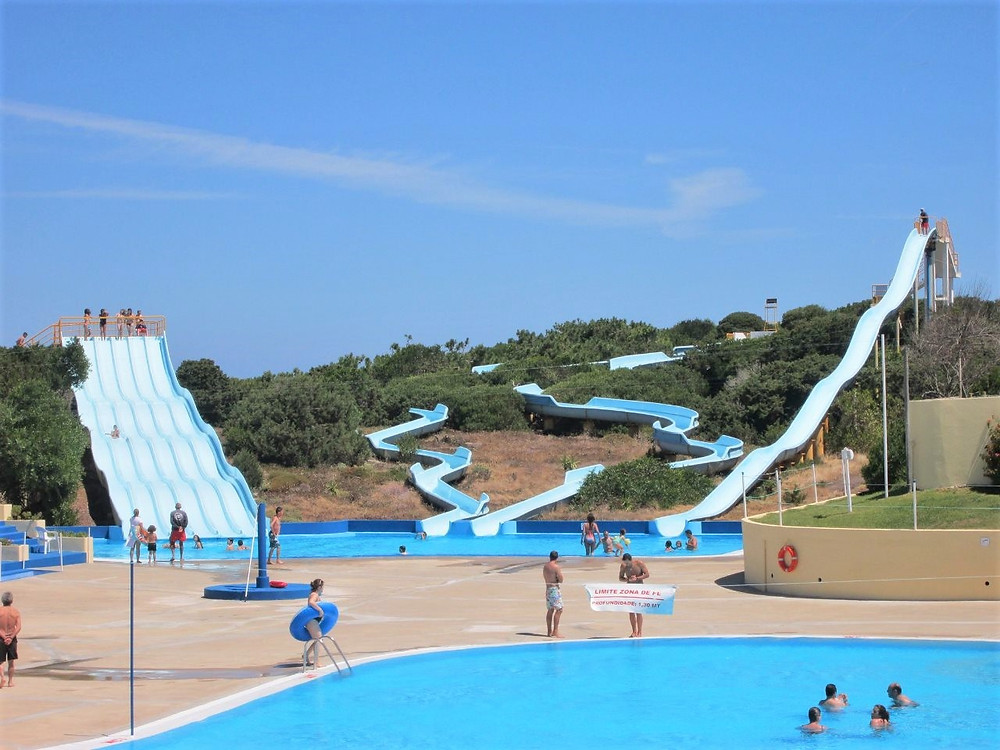 Sportagua, a aquatic park in Peniche, Silver Coast, Portugal