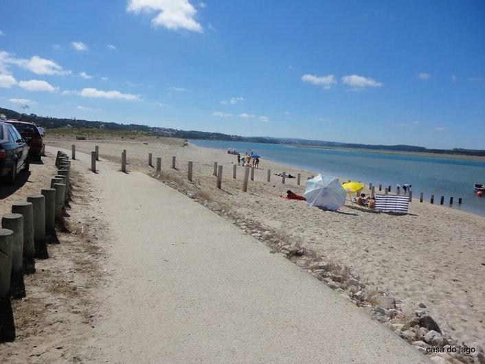 Extensive promenade in Foz do Arelho, Silver Coast, Portugal