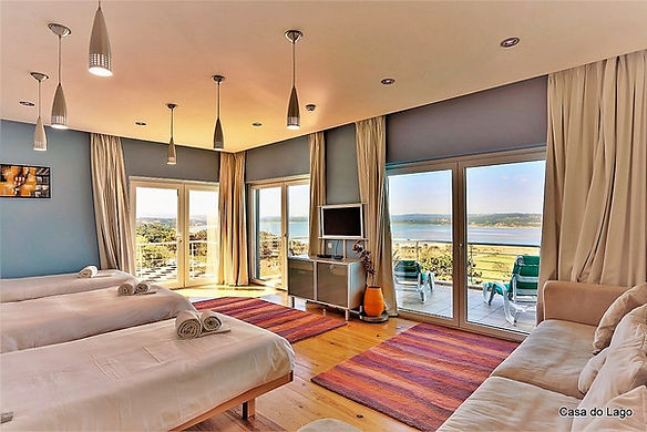 Bedroom of this luxury family villa in portugal