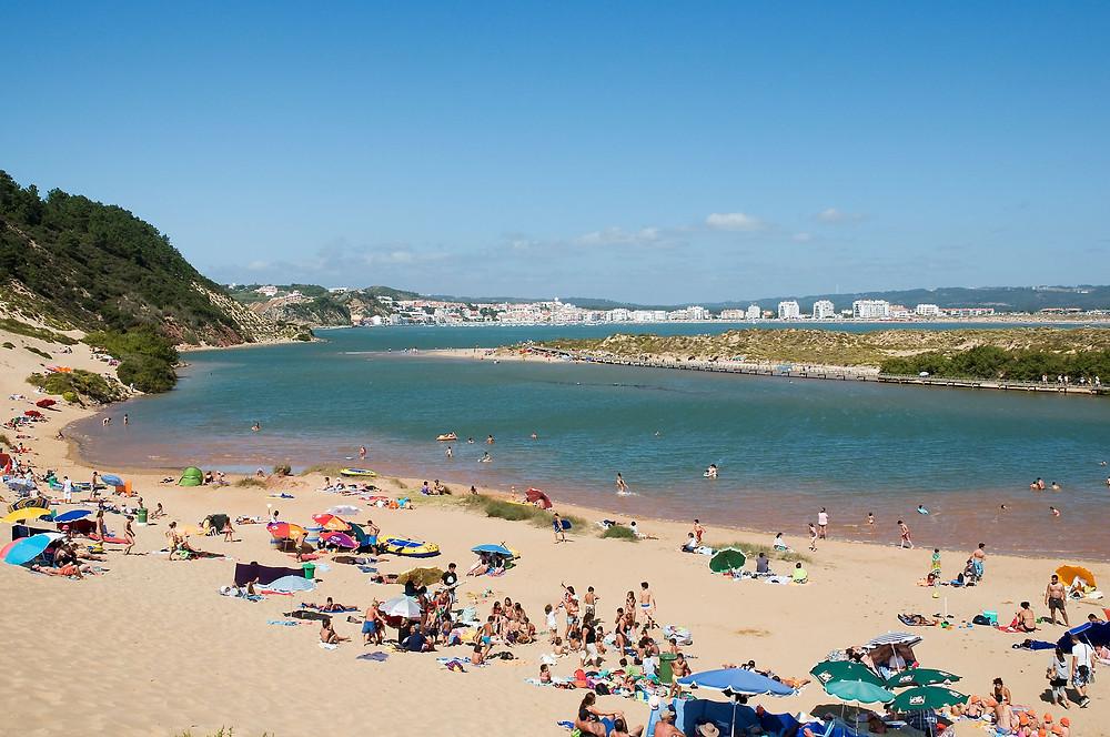 The beach of Salir and Sao Martinho do Porto, in Portugal