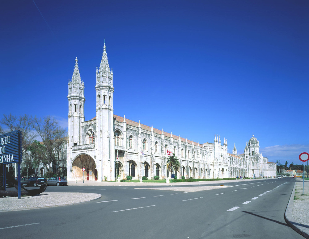 Jeronimos Monastery, built in the Portuguese Golden Age, the discovey times