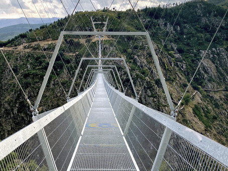 The world's longest pedestrian suspension bridge waits for you in Portugal