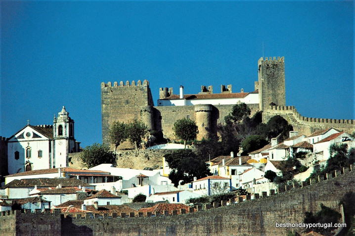 Part of the medieval village of Obidos, Portugal
