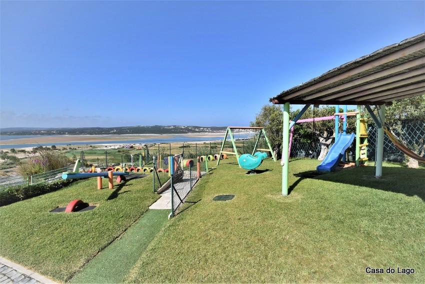 The playground at the villa Casa do Lago, Foz do Arelho, Portugal