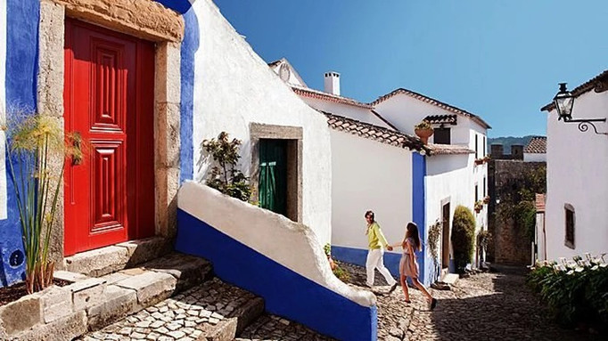 Traditional houses in Obidos