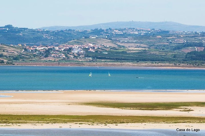 Sailing on Obidos lagoon