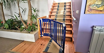 living room stair gates: family holiday villas