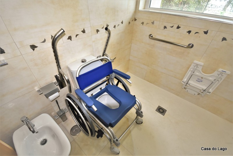 Bath chair, toilet commode in Casa do Lago, Disabled Friendly Villa