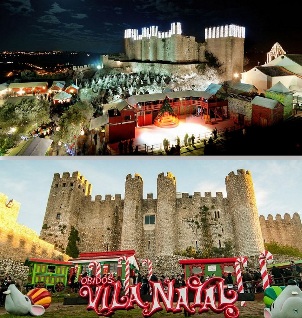 View of the Christmas Festivities at Obidos