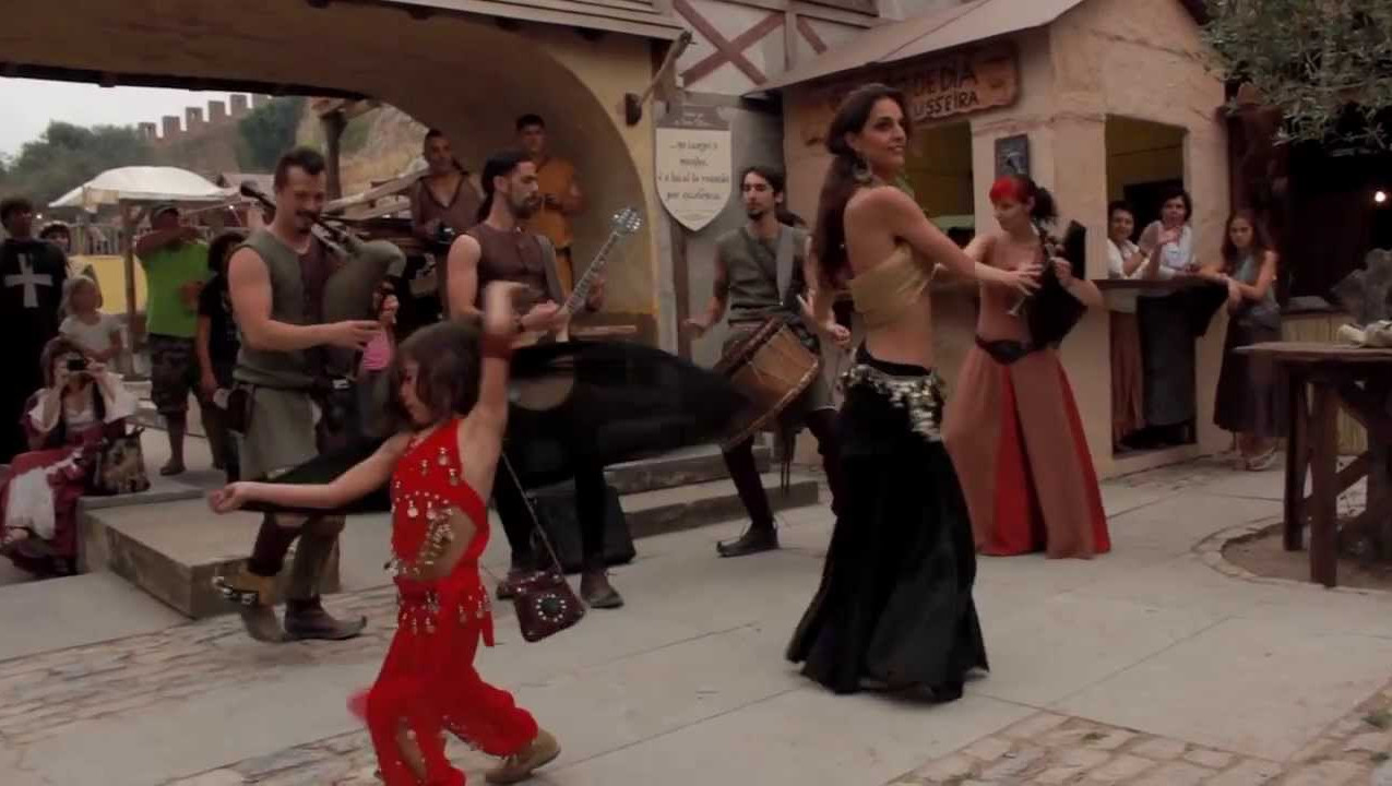 Medieval dance party recreation in Obidos
