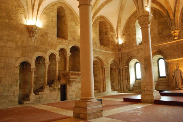 Medieval Chapter Room in the Monastery of Alcobaca