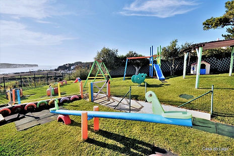 Largely fitted playground looking out to superb views, holiday villa for large families