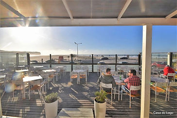 Outdoor bars in Foz do Arelho, Portugal