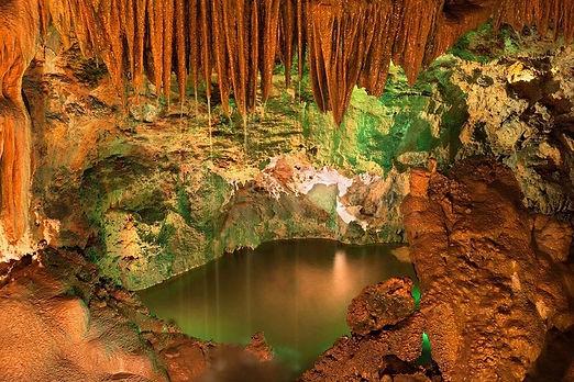 Underground lake in Mira de Aire caves