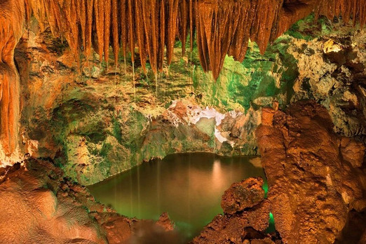 Underground lake in Mira de Aire caves