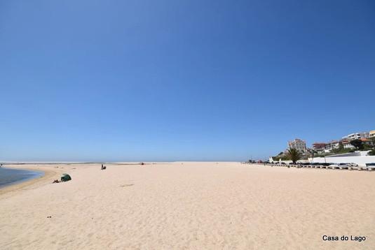 large white sandy beach, portugal