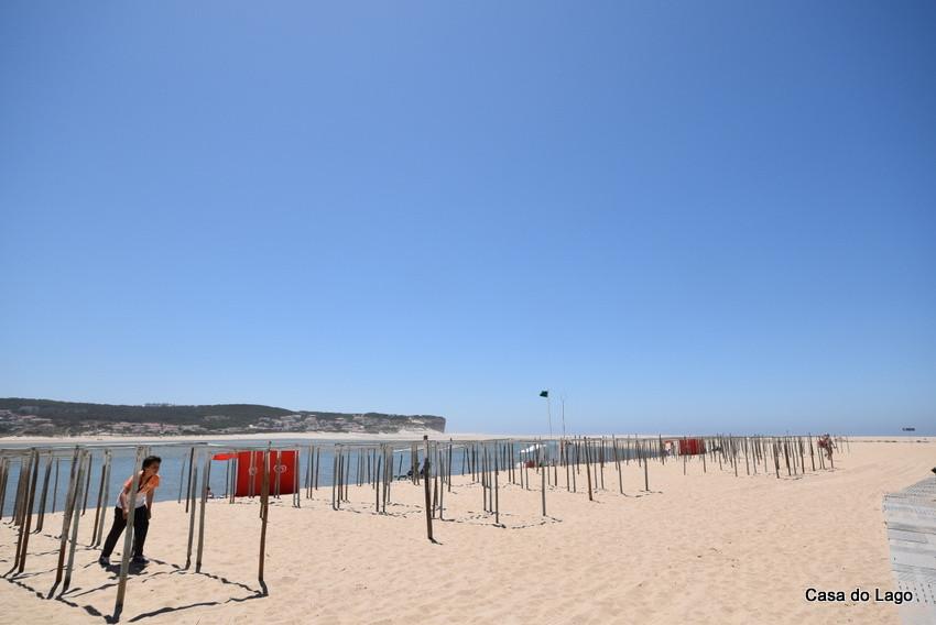 Detail of Foz do Arelho beach in June