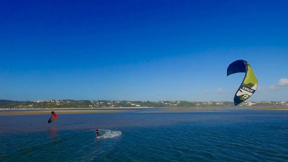 Kite surf activity near the holiday villa Casa do Lago