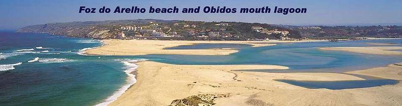 Obidos mouth lagoon and Foz do Arelho beach