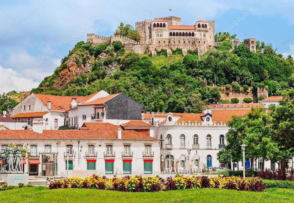 The Castle and city center of Leiria, Portugal