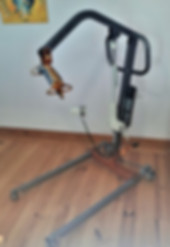 Hoist for disabled accessibility in Casa do Lago Holiday Villa, disabled friendly