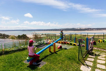 seesaw with child playing