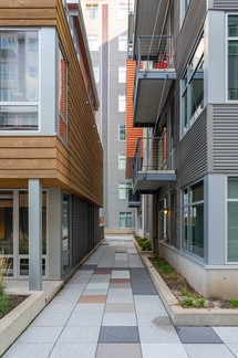 Walkway between High-Rise and Townhouses